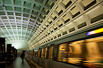 A subway station in downtown Washington, D.C.