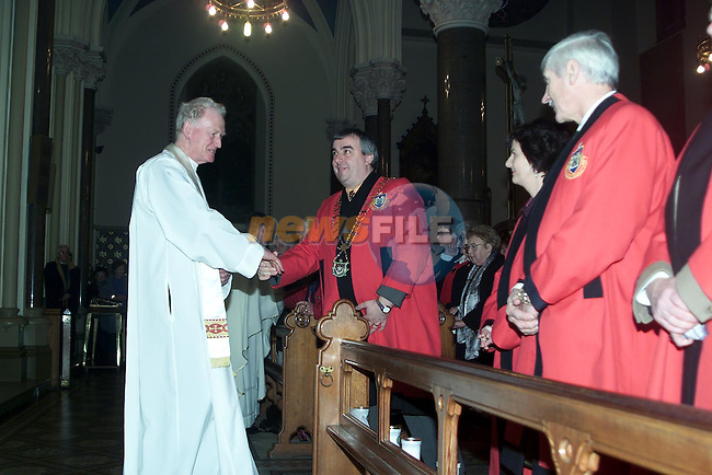 The New Year's Eve service in St. Peter's Church..Picture Paul Mohan Newsfile
