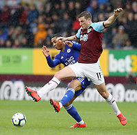 Burnley's Chris Wood battles with Leicester City's Youri Tielemans<br /> <br /> Photographer Rich Linley/CameraSport<br /> <br /> The Premier League - Burnley v Leicester City - Saturday 16th March 2019 - Turf Moor - Burnley<br /> <br /> World Copyright © 2019 CameraSport. All rights reserved. 43 Linden Ave. Countesthorpe. Leicester. England. LE8 5PG - Tel: +44 (0) 116 277 4147 - admin@camerasport.com - www.camerasport.com