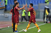 Cengiz Under of AS Roma and Justin Kluivert of AS Roma during the Serie A 2018/2019 football match between AS Roma and UC Sampdoria at stadio Olimpico, Roma, November, 11, 2018 <br />  Foto Andrea Staccioli / Insidefoto