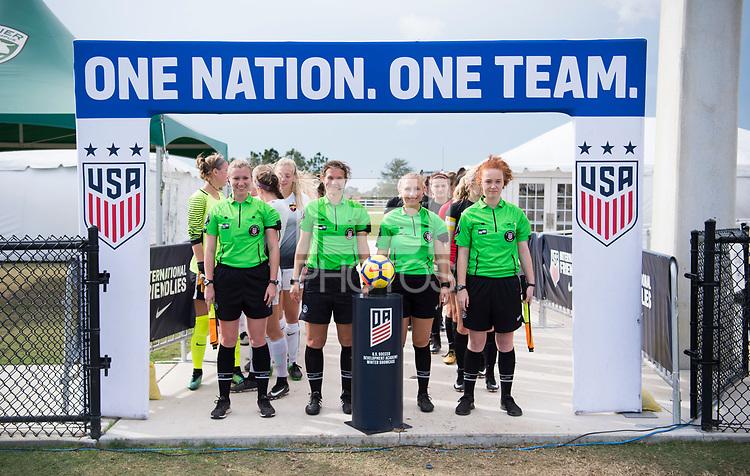 Lakewood Ranch, FL - December 8, 2017: 2017 Girls Development Academy Winter Showcase & Nike International Friendlies at Premier Sports Campus at Lakewood Ranch, FL.