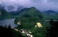 Bavaria region mountains & scenics of Hohenschwangau castle in Germany.