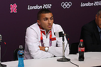 Hampden Park, Glasgow match venue for Football at London 2012...Zakaria Labyad of the Moroccan Mens Football Team at the Press Conference........