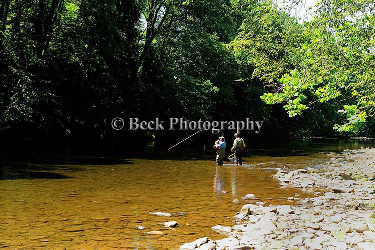 Fly fishing image, Huntington Creek Pa