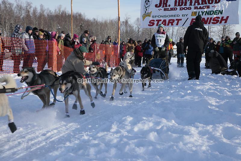 Saturday February 25, 2012   at Knik Lake during the Junior Iditarod start.  Conway Seavey