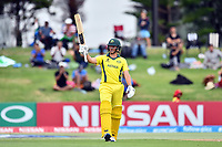 Australia's batsman Jonathan Merlo celebrates his fifty during the ICC U-19 Cricket World Cup 2018 Finals between India v Australia, Bay Oval, Tauranga, Saturday 03rd February 2018. Copyright Photo: Raghavan Venugopal / © www.Photosport.nz 2018 © SWpix.com (t/a Photography Hub Ltd)
