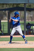 Kansas City Royals first baseman Travis Jones (23) at bat during an Instructional League game against the Chicago White Sox at Camelback Ranch on September 25, 2018 in Glendale, Arizona. (Zachary Lucy/Four Seam Images)