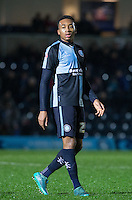 Jermaine Udumaga of Wycombe Wanderers during the Sky Bet League 2 match between Wycombe Wanderers and Morecambe at Adams Park, High Wycombe, England on 2 January 2016. Photo by Andy Rowland / PRiME Media Images