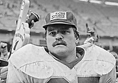 Washington Redskins defensive tackle Dave Butz (65) following the game against the Saint Louis Cardinals at RFK Stadium in Washington, DC on January 3, 1983.  The Redskins won the game 28 - 0 to finish the strike-shortened season with an 8 - 1 record and a trip to the NFC playoffs.<br /> Credit: Arnie Sachs / CNP