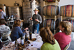 Amador Vintner's Behind the Cellar Door event..C. G. Di Arie Vineyard and Winery..Syrah seminar with Chaim Gur-Arich explains the art of tasting to those gathered
