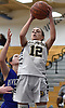 Danielle Pavinelli #12 of Northport grabs a rebound during the third quarter of a Suffolk County League II girls basketball game against Riverhead at Northport High School on Friday, Dec. 14, 2018. She recorded 11 points and five assists in Northport's 48-21 win.