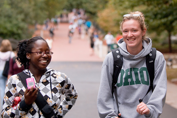 Campus...Krystal Stodghill and Meredith McIntosh(right)