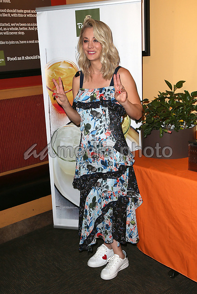 30 August 2017 - Studio City, California - Kaley Cuoco. Kaley Cuoco Joins Panera Bread New Craft Beverage Station Launch. Photo Credit: F. Sadou/AdMedia