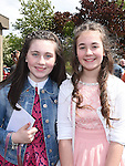 Hannah Gibson and Katie McGuinness who were confirmed in Holy Family Church Ballsgrove. Photo:Colin Bell/pressphotos.ie