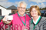Enjoying Dingle Food festival on Saturday were from left: Harry and Anne Perry (Scellig Pantry) Ballinskelligs who won gold for best at farmers market at the Blas na hEireann food awards and also won silver in the pate tureen category .