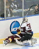 J.T. Brown (Duluth - 23), Keith Kincaid (Union - 30) - The University of Minnesota-Duluth Bulldogs defeated the Union College Dutchmen 2-0 in their NCAA East Regional Semi-Final on Friday, March 25, 2011, at Webster Bank Arena at Harbor Yard in Bridgeport, Connecticut.