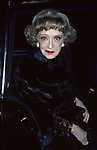 Bette Davis on February 1, 1985 in New York City.