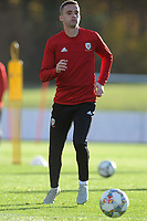Andy King of Wales in action during the Wales Training Session at The Vale Resort in Cardiff, Wales, UK. Monday 12 November 2018