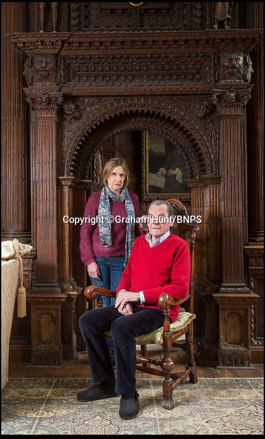 BNPS.co.uk (01202 558833)<br /> Pic: GrahamHunt/BNPS<br /> <br /> The Thimbleby's in Wolfeton House.<br /> <br /> Owners of Historic Wolfeton House in Dorset have won they're fight to remain far from the madding crowd.<br /> <br /> The elderly aristocrats yesterday repulsed a bid to build homes overlooking they're Elizabethan pile on the outskirts of Dorchester in Dorset, after local villagers and Julian Fellowes backed their campaign to keep the developers at bay.<br /> <br /> Downton Abbey creator Lord Julian Fellowes was one of about 100 people who objected to the proposal for 120 houses on land just 200 yards from Wolfeton House near Dorchester, Dorset.<br /> <br /> The house was owned for 400 years by the Trenchard family, whose name provided the inspiration for the main character in Hardy's classic 1886 novel The Mayor of Casterbridge.