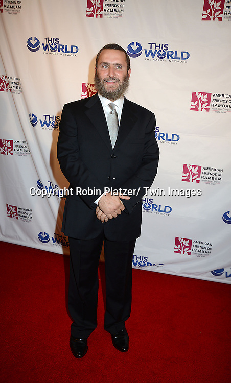 Rabbi Shmuley Boteach attends the Inaugural Champion of Jewish Values International Awards Gala on June 4, 2013 at the Marriott Marquis Hotel in New York City. Sheldon Adelson, Mrs Miriam Adelson and Dr Mehmet Oz were honored.