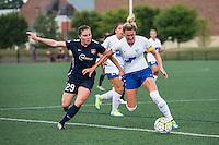 Allston, MA - Sunday July 17, 2016: Catherine Zimmerman, Kassey Kallman during a regular season National Women's Soccer League (NWSL) match between the Boston Breakers and Sky Blue FC at Jordan Field.