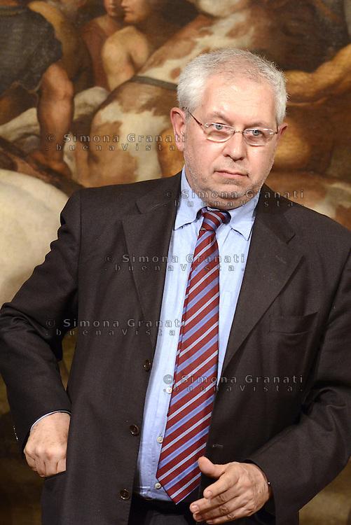 Roma, 3 Mag 2013.Giuramento a Palazzo Chigi dei Sottosegretari e Viceministri del Governo Letta..Pierpaolo Baretta, sottosegretario Economia e finanze