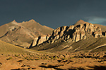 Peaks and rock formations in dry puna, Abra Granada, Andes, northwestern Argentina
