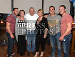 Twins Thomas and Stephen McDowell celebrating their 30th birthday in Brú with parents Tommy and Geraldine, Brother Tony and Sister Geraldine. Photo:Colin Bell/pressphotos.ie