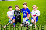 l-r  Andrew Kerins, Rory O'Flaherty, Donal O'Leary and Saidbh Caddigan enjoying the Parnells summer camp in Caherslee GAA grounds