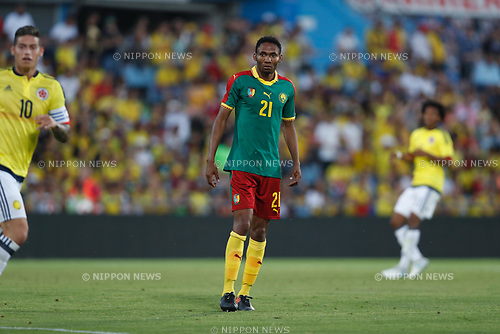 Lucien Owona (CMR), JUN 13, 2017 - Football / Soccer : International Friendly match between Colombia 4-0 Cameroon at the Coliseum Alfonzo Perez in Getafe, Spain. (Photo by Mutsu Kawamori/AFLO) [3604]