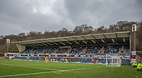 General view of the action during the Sky Bet League 2 match between Wycombe Wanderers and Bristol Rovers at Adams Park, High Wycombe, England on 27 February 2016. Photo by Claudia Nako.