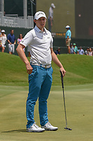 Matt Fitzpatrick (ENG) reacts to barely missing his putt on 18 during round 3 of The Players Championship, TPC Sawgrass, at Ponte Vedra, Florida, USA. 5/12/2018.<br /> Picture: Golffile | Ken Murray<br /> <br /> <br /> All photo usage must carry mandatory copyright credit (&copy; Golffile | Ken Murray)