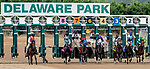 July 11, 2020: The field breaks from the gate in the Delaware Handicap on Delaware Handicap Day at Delaware Park in New Stanton, Delaware. Scott Serio/Eclipse Sportswire/CSM
