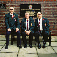 Graeme, Tommy and Jimmy on Remembrance Sunday in 2011 in Belfast. .