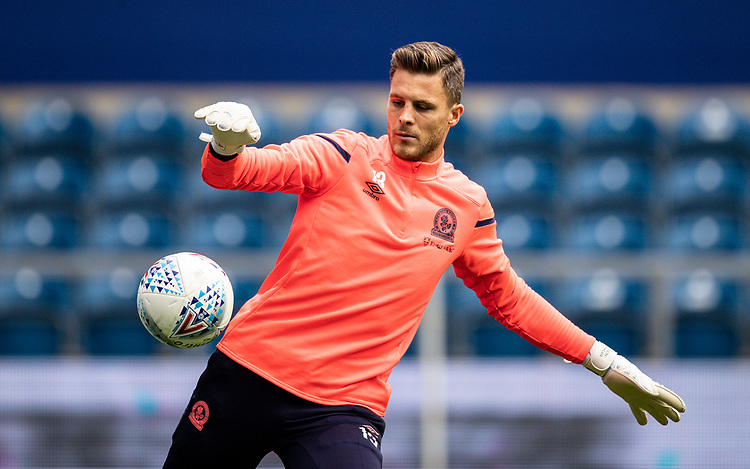 Blackburn Rovers' Jayson Leutwiler warming up before the match  <br /> <br /> Photographer Andrew Kearns/CameraSport<br /> <br /> The EFL Sky Bet Championship - Queens Park Rangers v Blackburn Rovers - Saturday 5th October 2019 - Loftus Road - London<br /> <br /> World Copyright © 2019 CameraSport. All rights reserved. 43 Linden Ave. Countesthorpe. Leicester. England. LE8 5PG - Tel: +44 (0) 116 277 4147 - admin@camerasport.com - www.camerasport.com