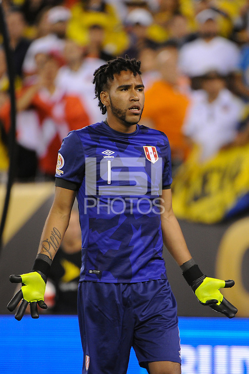 East Rutherford, NJ - Friday June 17, 2016: Pedro Gallese after a Copa America Centenario quarterfinal match between Peru (PER) vs Colombia (COL) at MetLife Stadium.