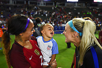 Carson, CA - Thursday August 03, 2017: Sydney Leroux, Julie Ertz after the 2017 Tournament of Nations match between the women's national teams of the United States (USA) and Japan (JPN) at the StubHub Center.