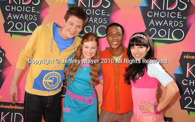 LOS ANGELES, CA. - March 27: Fresh Beat Band arrives at Nickelodeon's 23rd Annual Kid's Choice Awards at Pauley Pavilion on March 27, 2010 in Los Angeles, California.