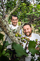 Teague Moriarty and Matt McNamara of Sons and Daughters Restaurant Group pictures: executive portrait photography of Teague Moriarty and Matt McNamara of Sons and Daughters Restaurant Group in San Francisco, by San Francisco corporate photographer Eric Millette