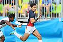 Teruya Goto (JPN), <br /> AUGUST 11, 2016 - / Rugby Sevens : <br /> Men's Semi-final <br /> between Fiji 20-5 Japan <br /> at Deodoro Stadium <br /> during the Rio 2016 Olympic Games in Rio de Janeiro, Brazil. <br /> (Photo by YUTAKA/AFLO SPORT)
