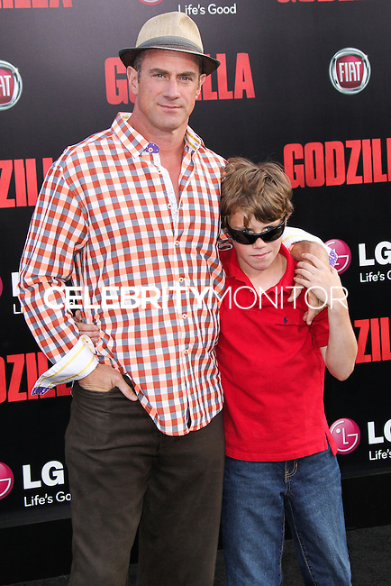 "HOLLYWOOD, LOS ANGELES, CA, USA - MAY 08: Christopher Meloni at the Los Angeles Premiere Of Warner Bros. Pictures And Legendary Pictures' ""Godzilla"" held at Dolby Theatre on May 8, 2014 in Hollywood, Los Angeles, California, United States. (Photo by Xavier Collin/Celebrity Monitor)"
