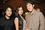 Josh Zulu, Maricela Hernandez and Brooks Bassler at the Realcity Literacy party at 13 Celsius Thursday Feb. 18,2010. (Dave Rossman Photo)