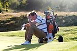 DEN DOLDER - Tim Sluiter, die als tweede eindigde, baalt tijdens het NK Strokeplay golf op Golfsocieteit  De Lage Vuursche. COPYRIGHT KOEN SUYK