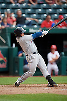 San Antonio Missions first baseman Ty France (8) follows through on a swing during a game against the Springfield Cardinals on June 4, 2017 at Hammons Field in Springfield, Missouri.  San Antonio defeated Springfield 6-1.  (Mike Janes/Four Seam Images)