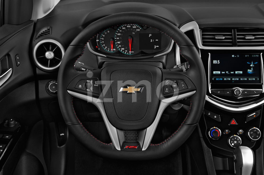 Car pictures of steering wheel view of a 2017 Chevrolet Sonic LT 5 Door Hatchback Steering Wheel