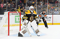September 26, 2018: Boston Bruins goaltender Jaroslav Halak (41) guards the net during the NHL pre-season game between the Detroit Red Wings and the Boston Bruins held at TD Garden, in Boston, Mass. Detroit defeats Boston 3-2 in overtime. Eric Canha/CSM