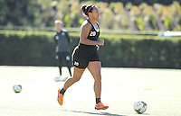 Beaverton, OR - Tuesday, September 29, 2015: Seattle Reign FC trains at the Bo Jackson Field on the Nike Campus prior to the NWSL Championship Game.