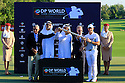 Rory McIlroy (IRE) at the presentation during the final round of the DP World Golf Championship played at the Earth Course, Jumeira Golf Estates, Dubai 19-22 November 2015. (Picture Credit / Phil Inglis )