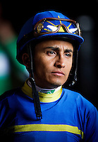 July 20, 2014: Jockey, Rafael Bejarano at Del Mar Race Track in Del Mar CA. Alex Evers/ESW/CSM
