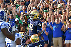September 24, 2016; Wide receiver Kevin Stepherson (29) celebrates a score against Duke. (Photo by Matt Cashore)
